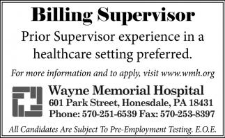 Billing Supervisor