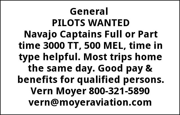 PILOTS WANTED