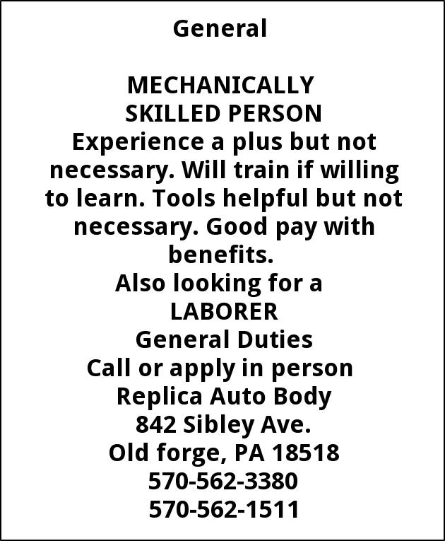 Mechanically Skilled Person
