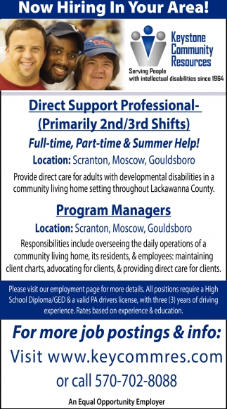 Direct Support Professional  Program Managers