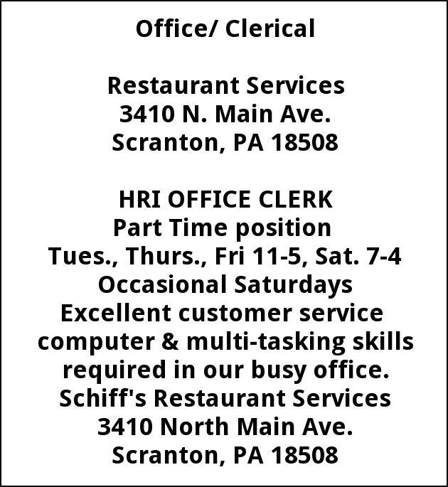 HRI Office Clerk