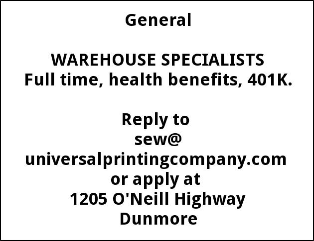 Warehouse Specialists