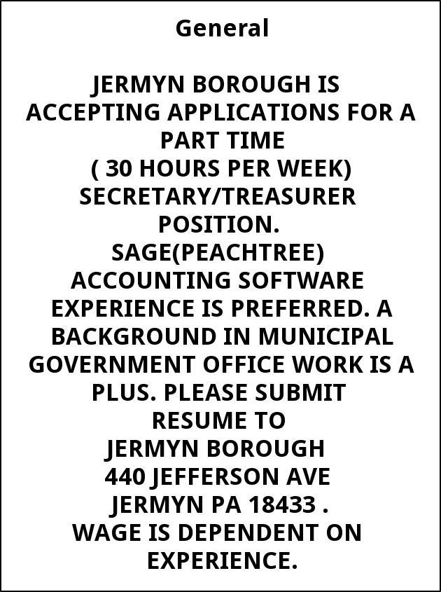 Secretary /Treasurer