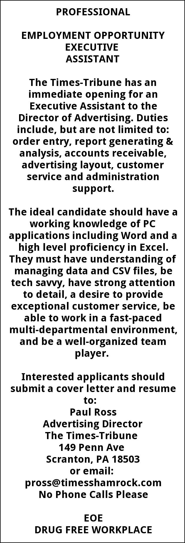EXECUTIVE ASSISTANT
