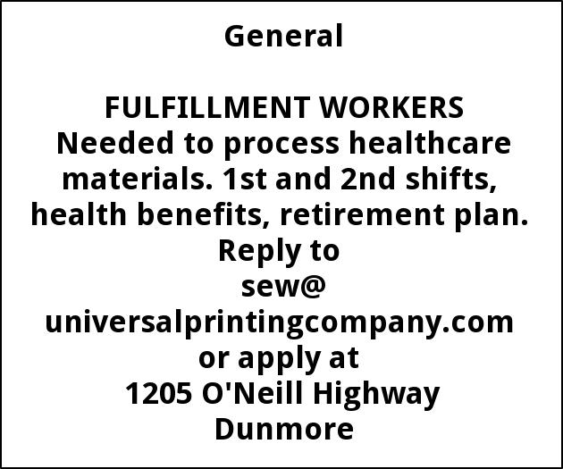 Fulfillment Workers