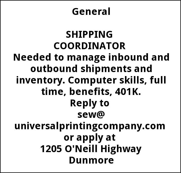 Shipping Coordinator