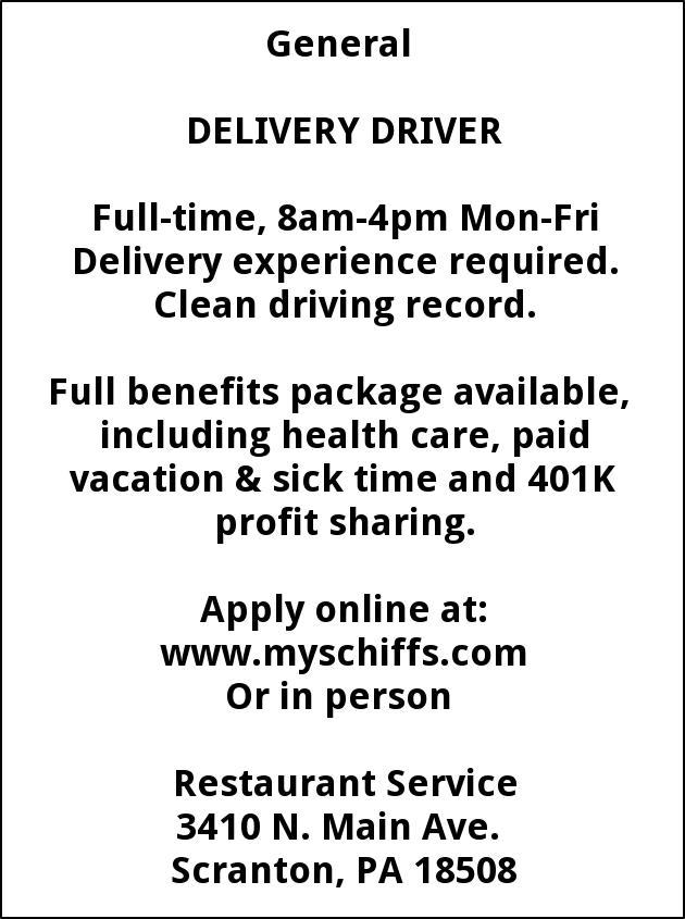 Delivery Van Driver