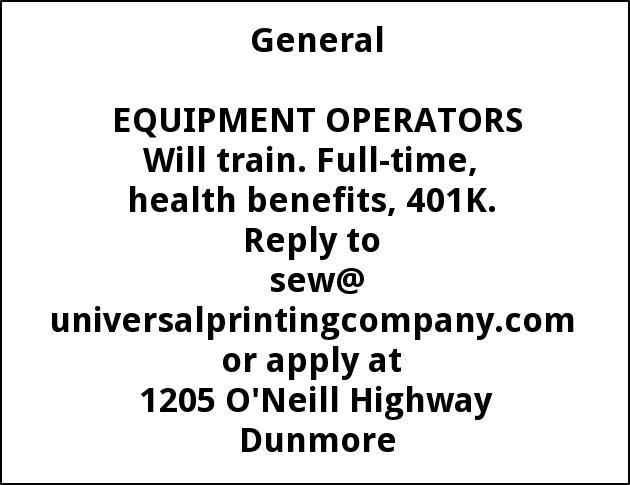 Equipment Operators