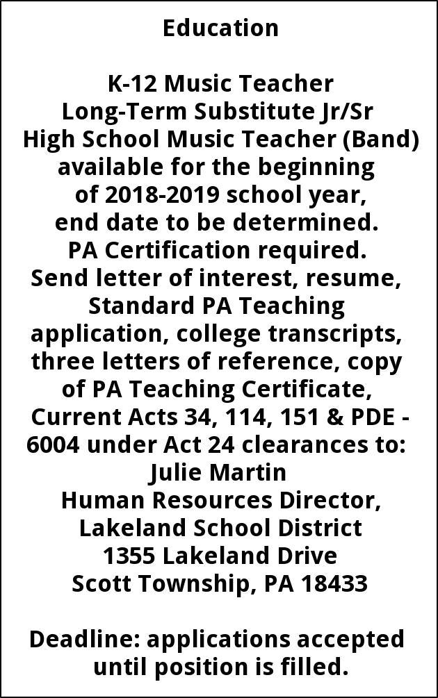 Supvisor Of Special Education Lakeland School District