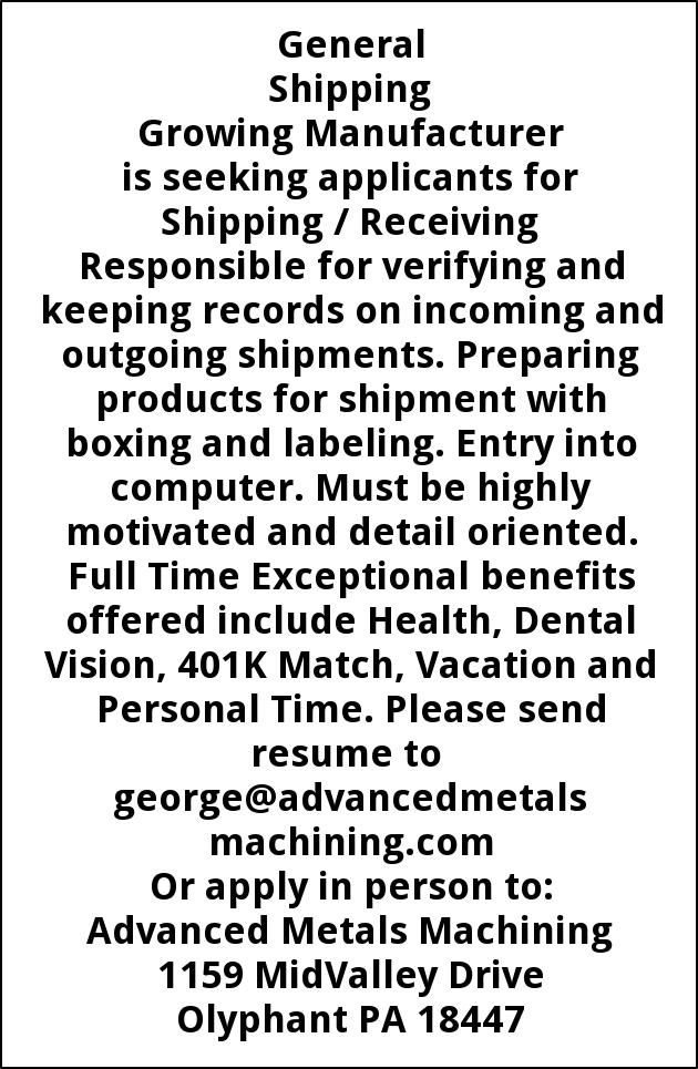 Shipping/ Receiving