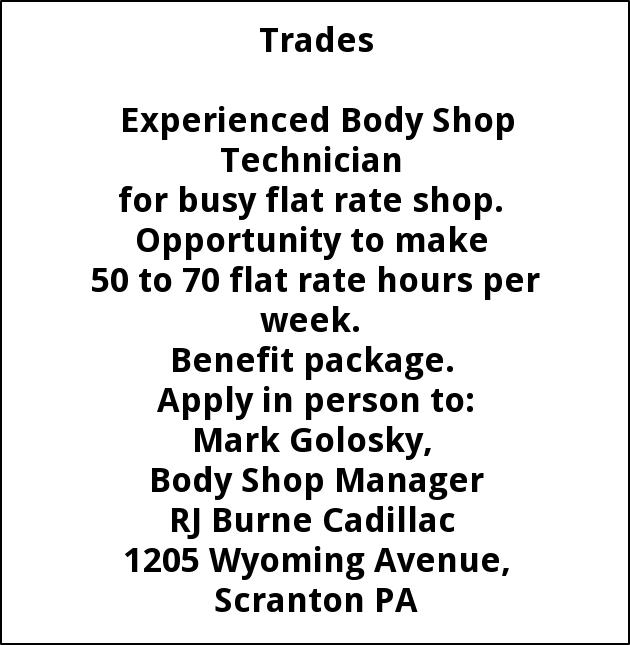 Body Shop Technician