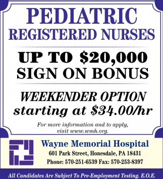 Pediatric Registered Nurse