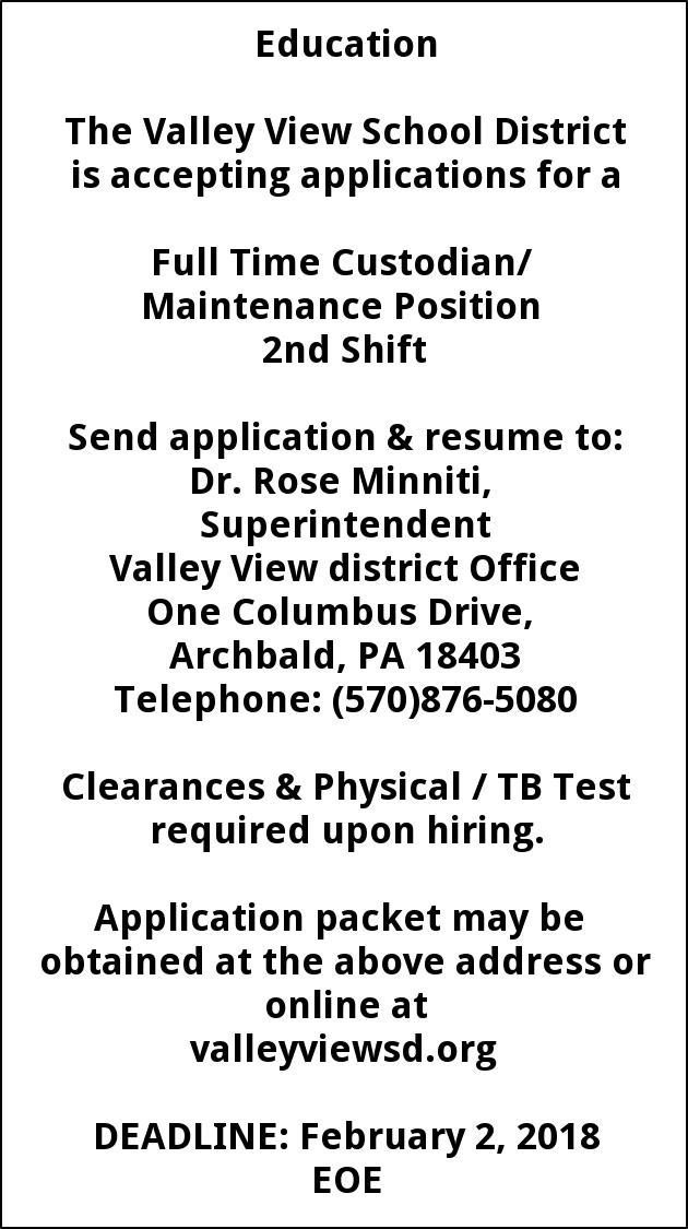 Custodian / Maintenance Position