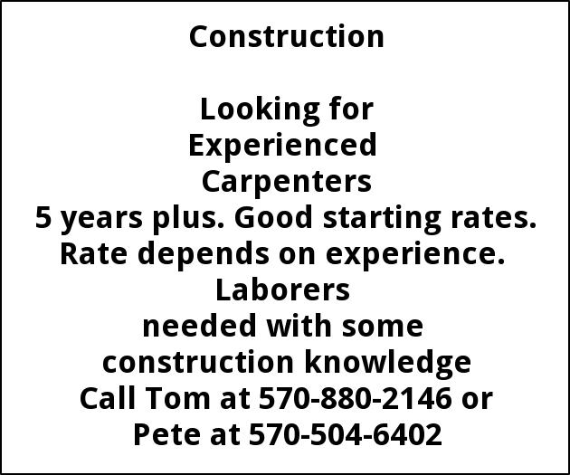 Carpenters, Laborers