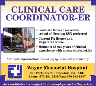 Clinical Care Coordinator ER