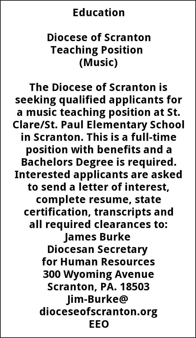 Music Teaching Position