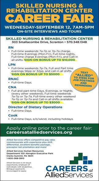 Allied  Services Job Fair April 12th