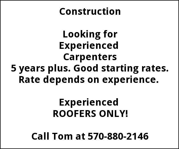 Carpenters, Roofers