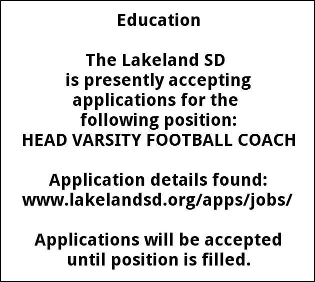 Head Varsity Football Coach