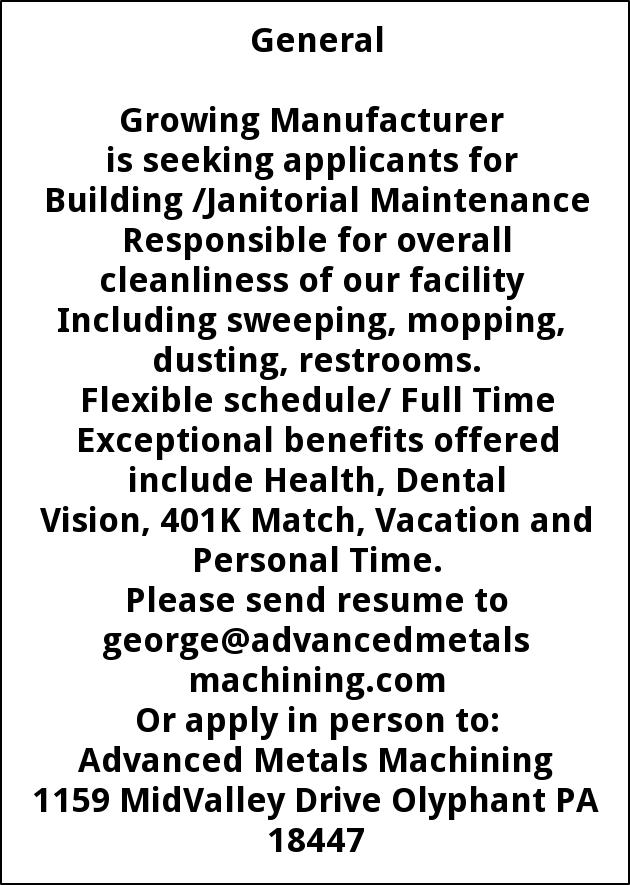 Building/ Janitorial Maintenance