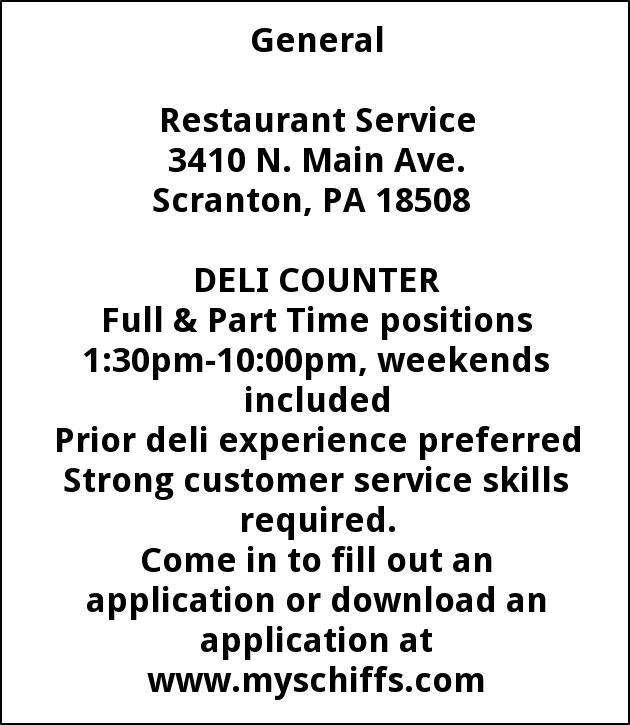 Deli counter