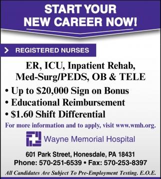 Physical Therapist, Respiratory Therapist, Wayne Memorial