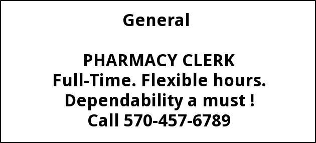 Pharmacy Clerk
