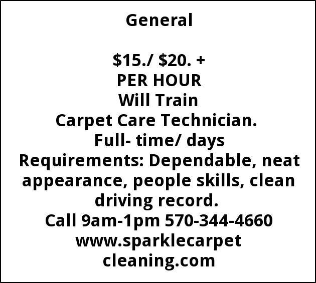 Carpet Care Technician