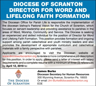 Director for Word and Lifelong Faith Formation
