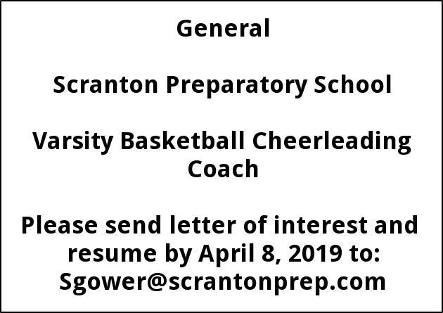 Varsity Basketball Cheerleading Coach
