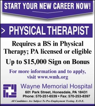 Physical Therapist, Respiratory Therapist