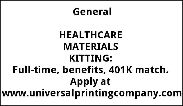 Healthcare Materials Kitting