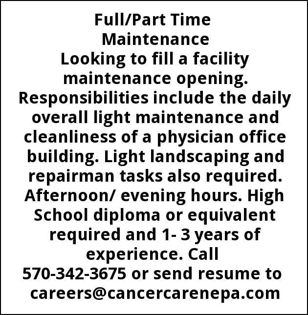 Maintenance, Hematology And Oncology Associates Of Nepa