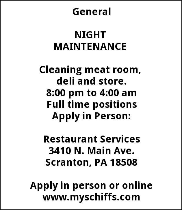 Night Maintenance