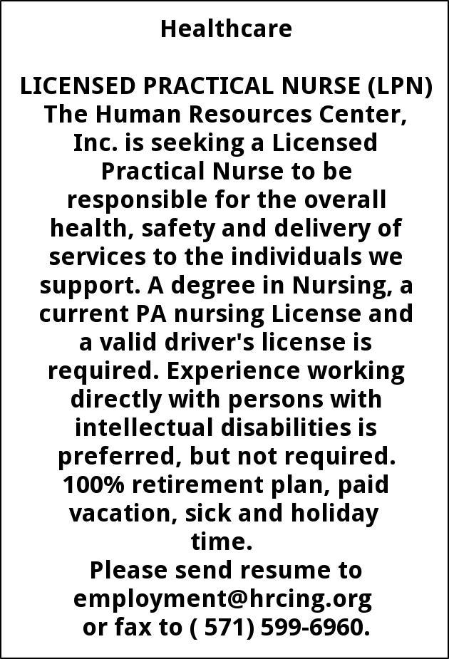 Licensed Practical Nurse ( PN)