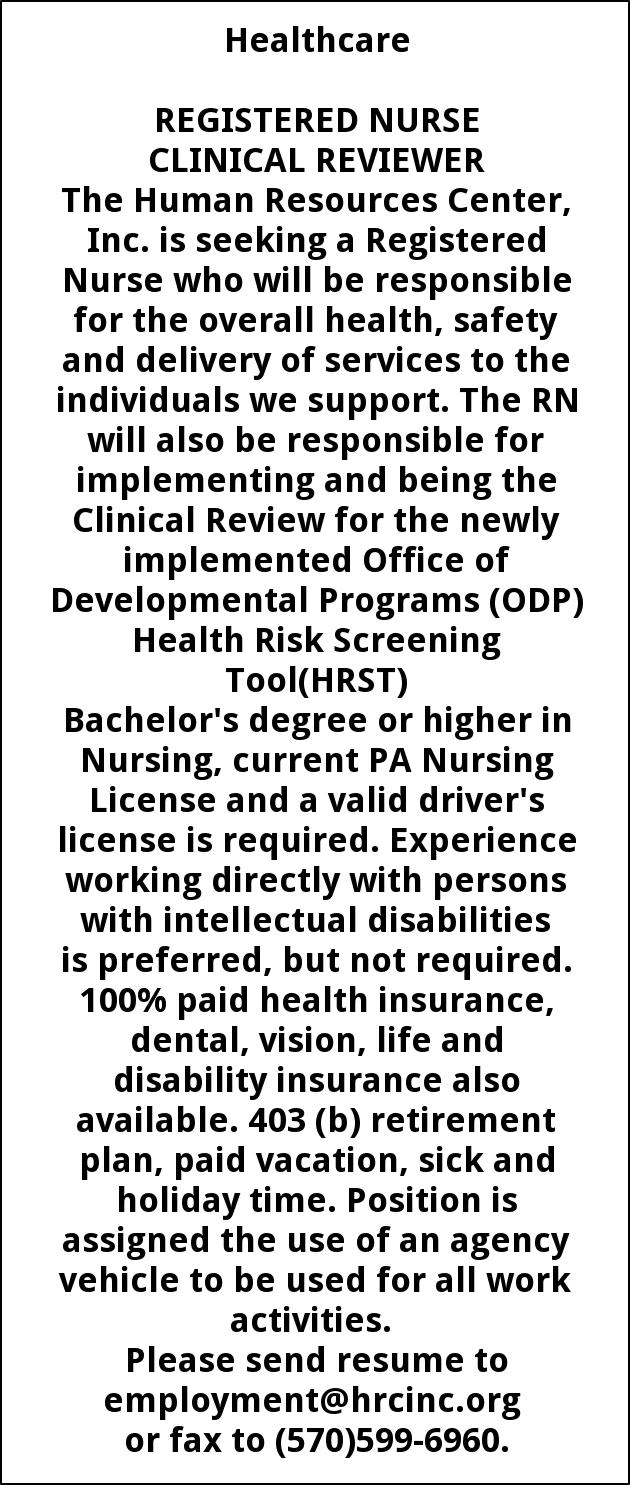 Registered Nurse Clinical Reviewer