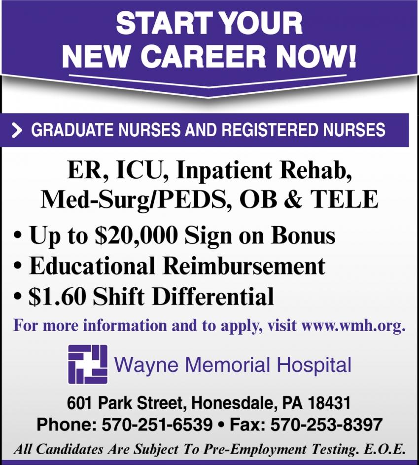 Registered Nurses, Wayne Memorial Hospital