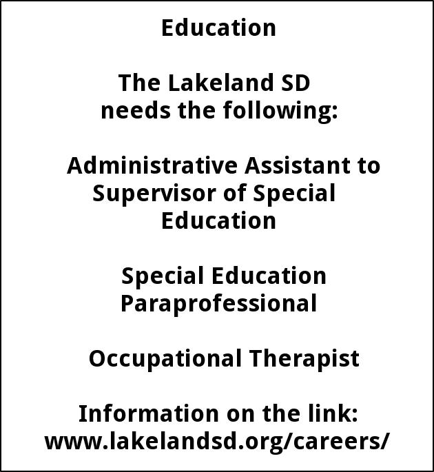 Administrative Assistant, Special Education Paraprofessional