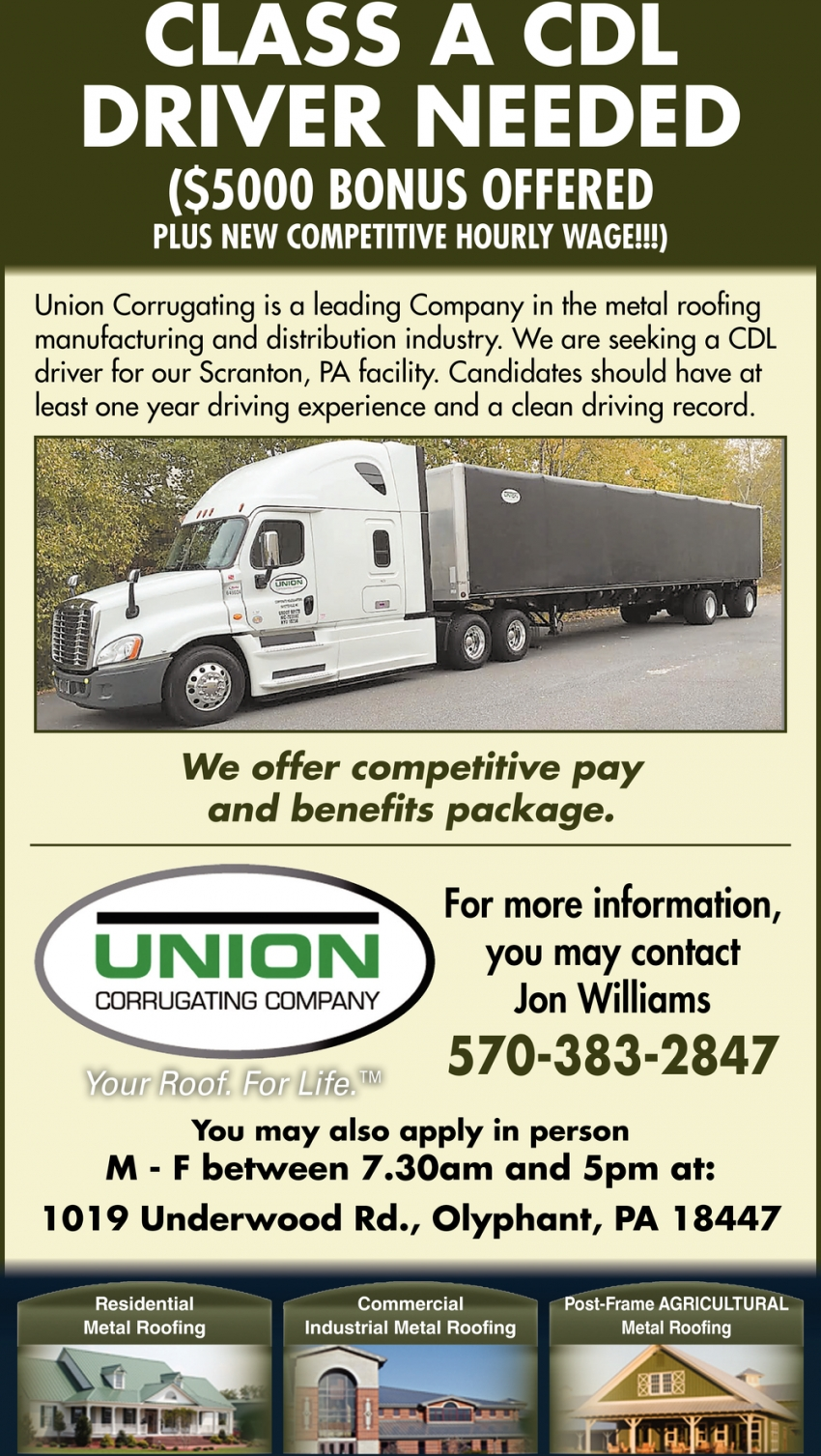 Class A CDL Driver Needed