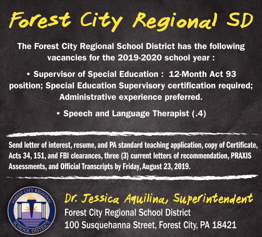Supervisor of Special Education, Speech and Language Therapist
