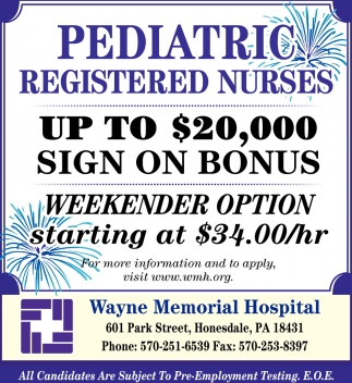 Pediatric Registered Nurses