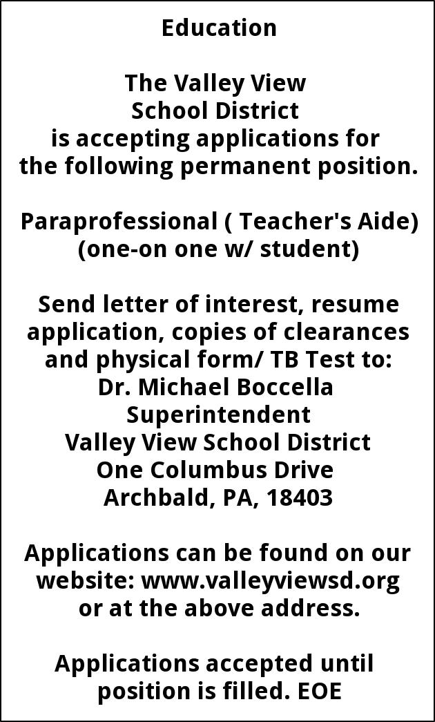 Paraprofessional Needed