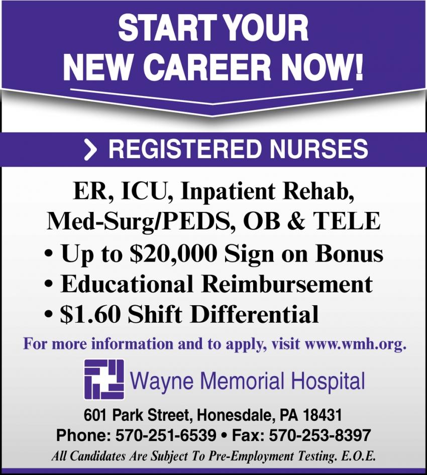 Registered Nurses Needed