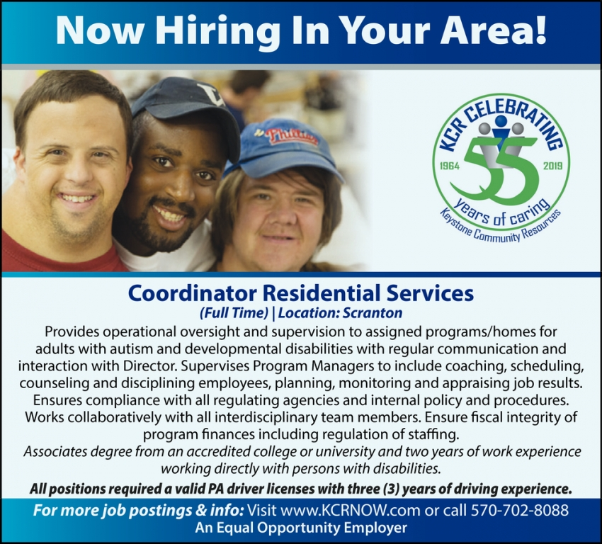 Coordinator Residential Services