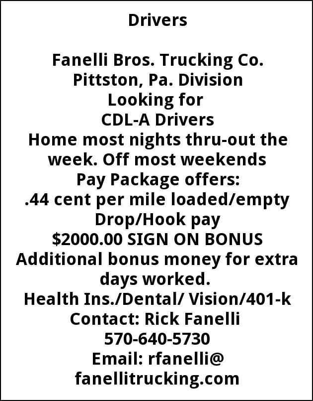 CDL-A Drivers Needed