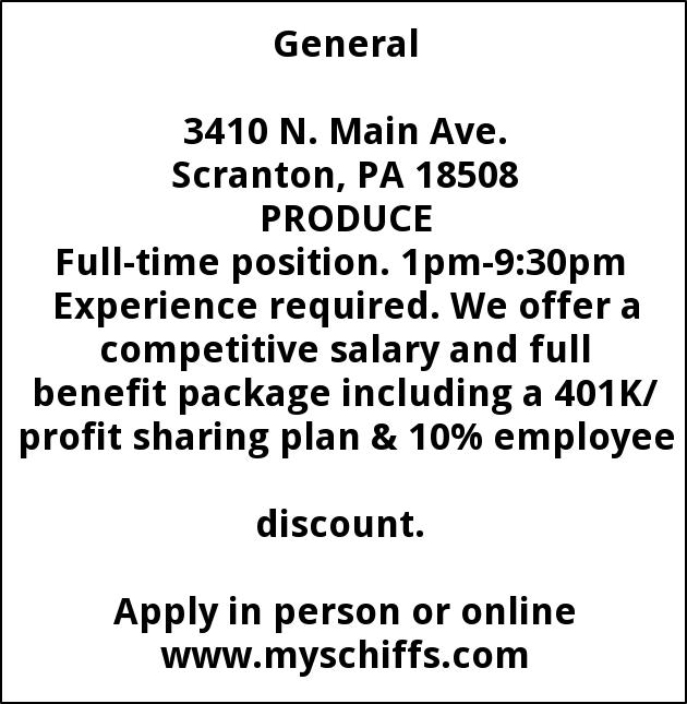 Produce Full Time Position