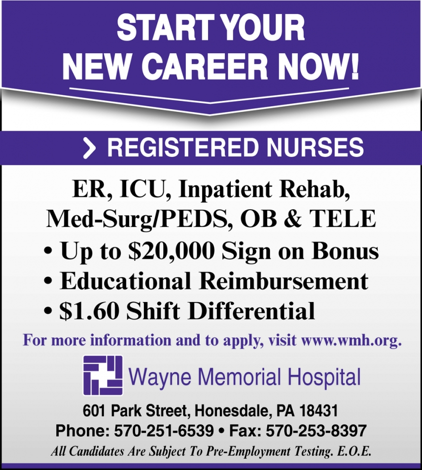 Registered Nurses Needed