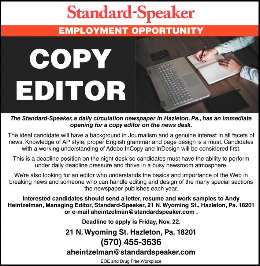 City Editor Needed