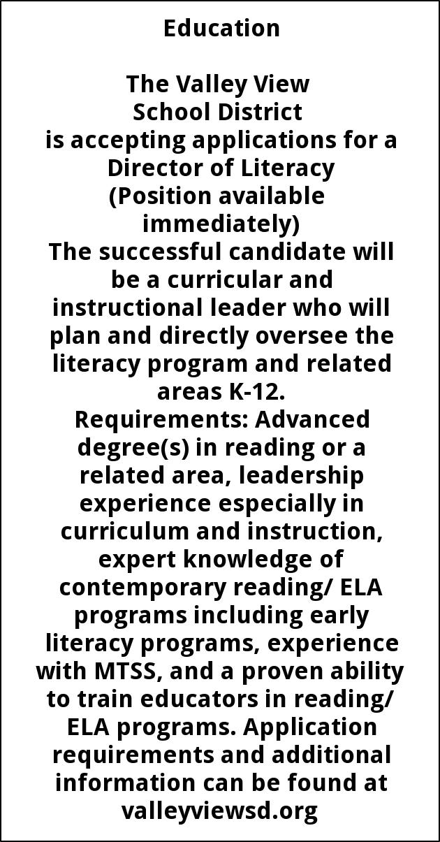 Director Of Literacy