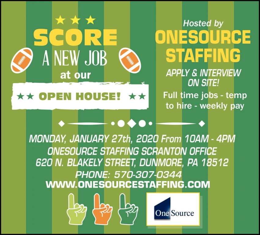 Score A New Job At Our Open House!